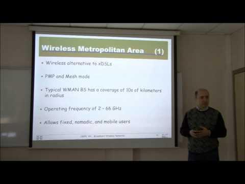CMPE591/567 - Broadband Wireless Networks (Lecture 1)