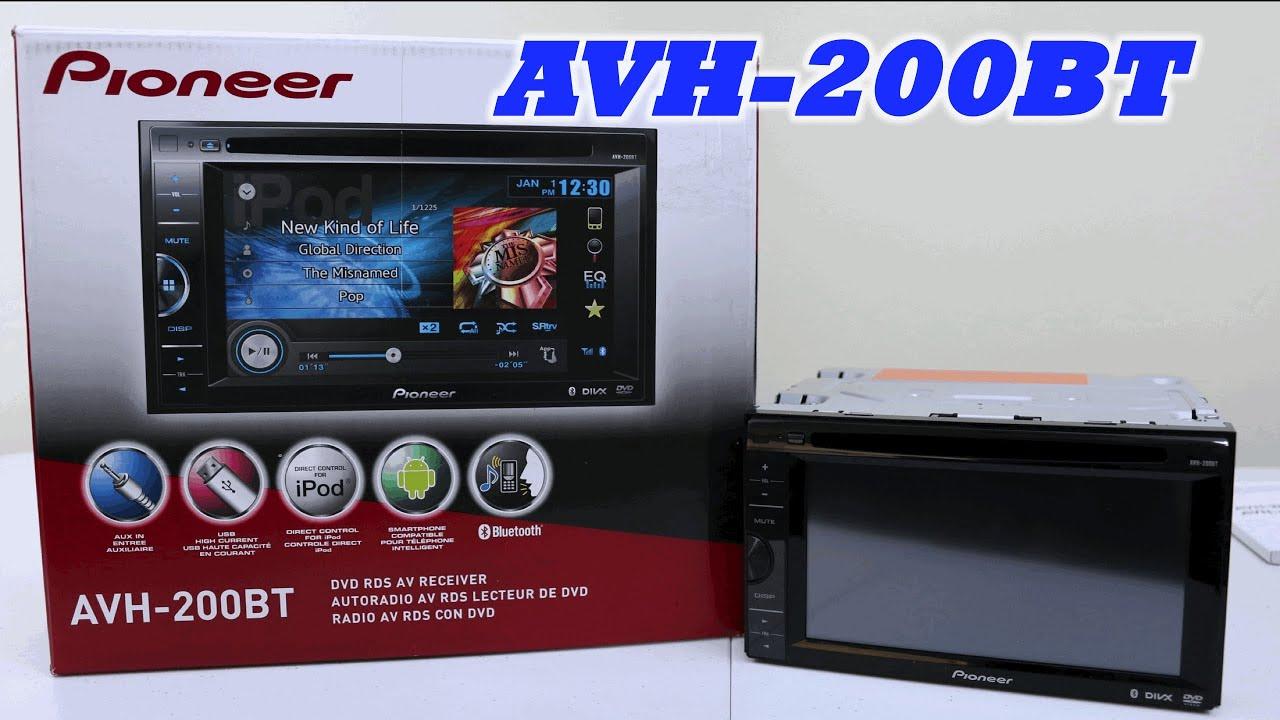 Pioneer Avh 200bt In Dash Dvd Receiver