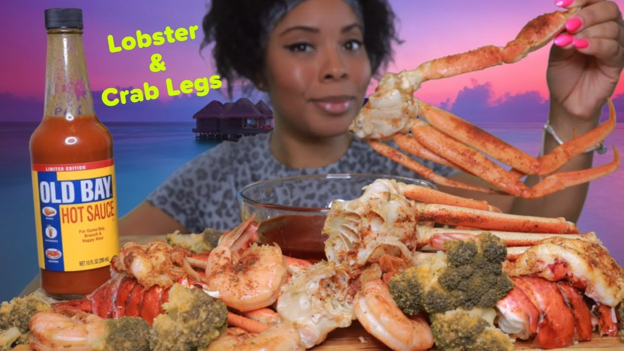 LOBSTER TAILS & SNOW CRAB LEGS WITH E'S SPECIAL SAUCE | OLD BAY LIMITED EDITION HOT SAUCE