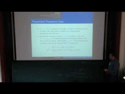 Yan Dolinsky: Convex Duality with Transaction Costs