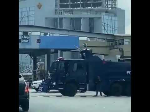 Heavy police presence at Lekki tollgate