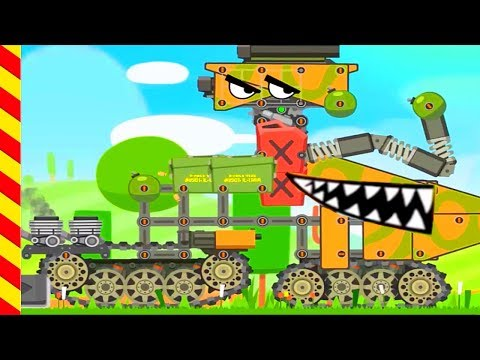 Мультик про танки. Строим на заводе большой танк. Мультики про войну танков, для мальчиков.