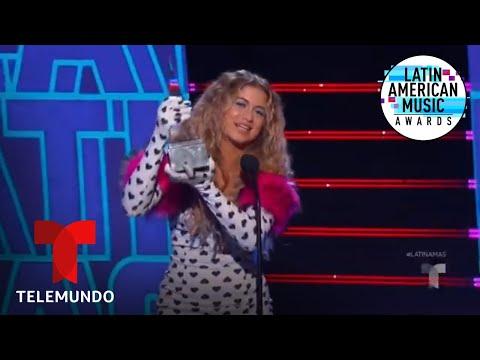 Sofía Reyes gana el premio Video Favorito en los Latin AMAS 2019 | Latin AMAs 2019
