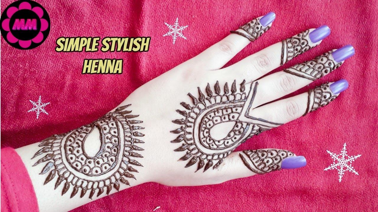 Diy Arabic Henna Simple Beautiful Stylish Mehendi Design For Eid