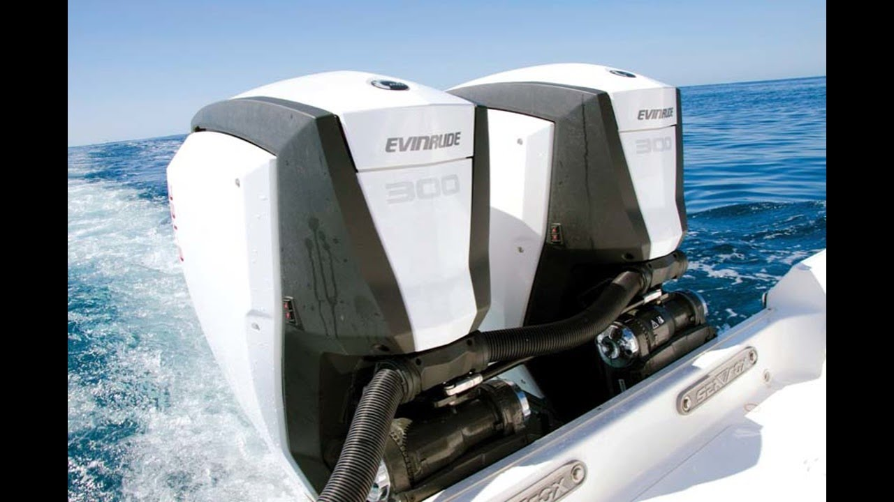Twin 300hp Evinrude E Tec G2 Engine Review Youtube