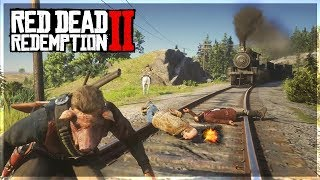 LOL Epic Lasso Trolling on RDR 2! (Red Dead Redemption 2 Funny Moments)