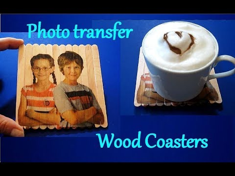 DIY Photo Transfer Wood Coasters | Father's Day Gift Ideas | Crafts For Kids | Popsicle Stick Crafts