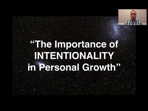 """The Importance of Intentionality in Personal Growth"""