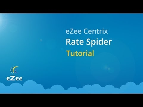 How to use Rate Spider in eZee Centrix, Hotel Channel Manager