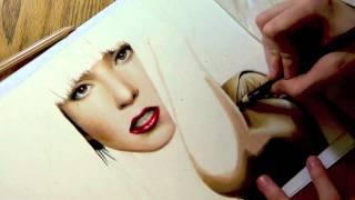 Drawing Lady Gaga