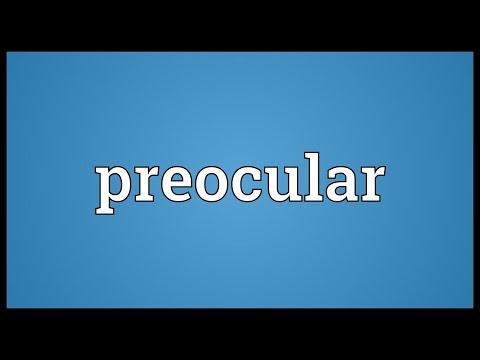 Header of preocular