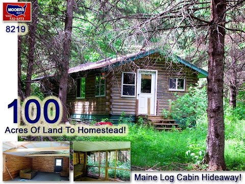 Maine Real Estate | 100 Maine Acres For Sale! Log Cabin Too