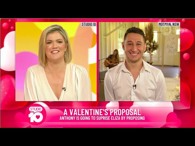 Viral Marriage Proposal Live on Studio 10, Australia! | my proposal co. | Sydney