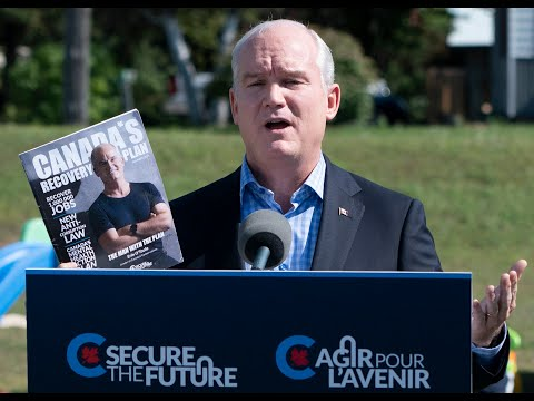 O'Toole slams 'partying' Trudeau on campaign stop