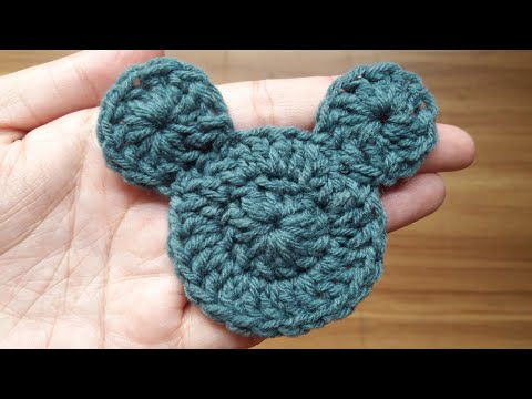 How To Crochet Mickey Mouse Applique | Part 1 Of 2