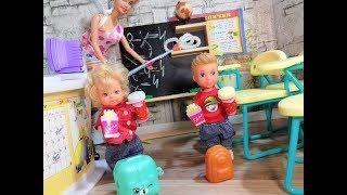 Контрольная работа без мальчиков. Опоздали на урок. Мультик школа куклы. Барби школа новые.