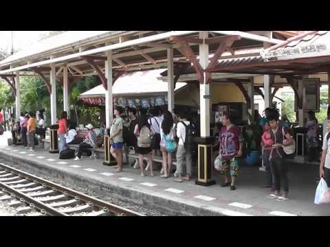 Train from Bangkok to Hua Hin, Thailand