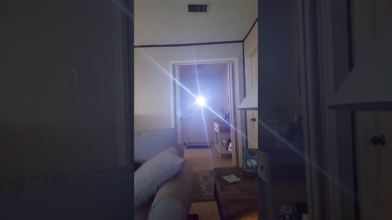 The Sun Peeking Through Front Door Peephole
