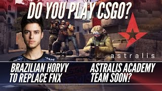 Horvy To Replace FNX, Do You Play CSGO? Astralis Academy, JW's Brother Joins & Summit1g Kicked
