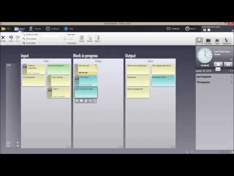 Applying agile practices with Eylean board