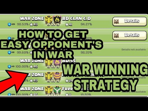 How To Get Easy Opponents In Wars||Clash Of Clans||war Winning Strategy