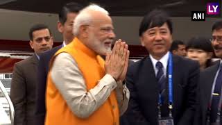 G20 Summit: PM Modi Arrives in Japan All Eyes on Meet With Donald Trump