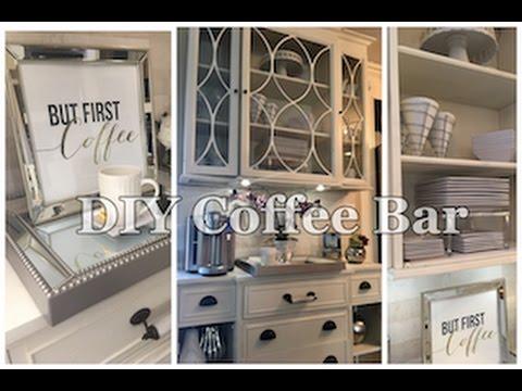 diy coffee bar youtube. Black Bedroom Furniture Sets. Home Design Ideas