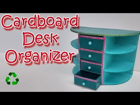 How to make a Cardboard Desk Organizer - Ana | DIY Crafts