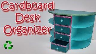 How to make a Cardboard Desk Organizer - Ana DIY Crafts