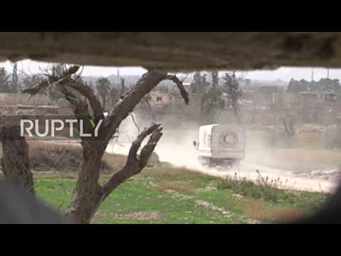 Syria: First aid convoy enters besieged Eastern Ghouta