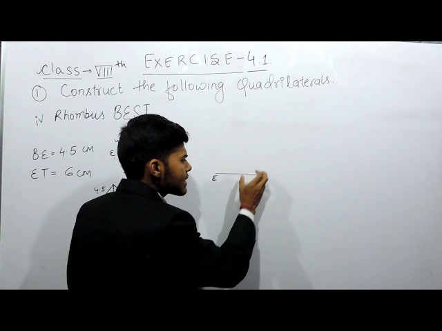 Exercise 4.1 - Question 1 (iv) NCERT Solutions for Class 8th Maths Practical Geometry