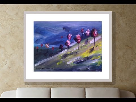 wonderful  landscape painting by offside /abstract landscape  impression landscape /  hill landscape