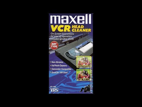 Maxell VP-100 VCR Head Cleaner (Dry Type) VHS Tape [HQ] (60fps)