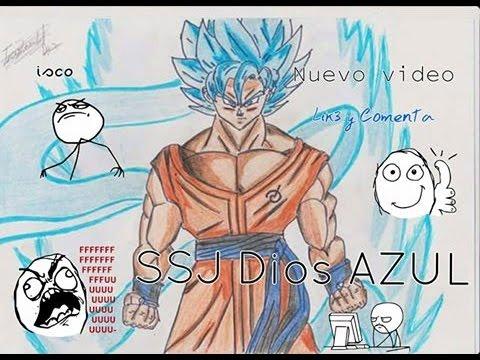 Dibujos Series de DBZ Goku Super Sayayin Dios Azul  YouTube