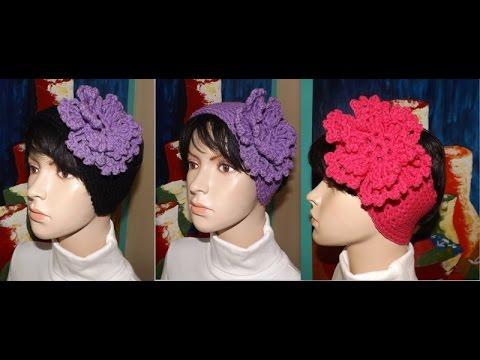 Crochet cintillo vinchas o diademas youtube - Diademas a crochet ...