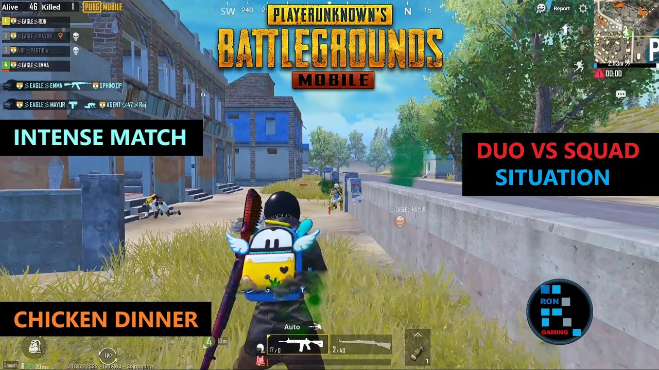 PUBG MOBILE | DUO VS SQUAD SITUATION INTENSE MATCH CHICKEN DINNER