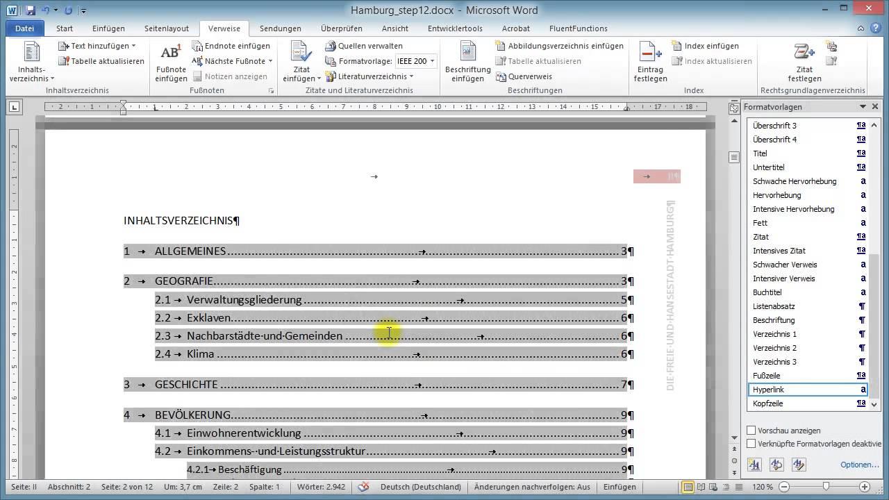 Umfangreiche Dokumente in Word Teil 12: Inhaltsverzeichnis ...