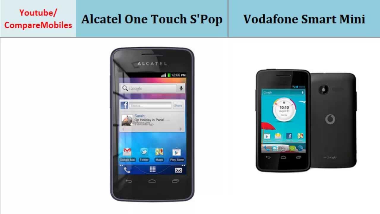 alcatel one touch s 39 pop to vodafone smart mini specs compared youtube. Black Bedroom Furniture Sets. Home Design Ideas