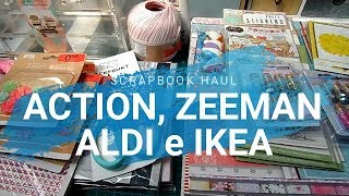 Compras Haul de Scrapbook | Action, Zeeman y Aldi | Yoltzin Handmade