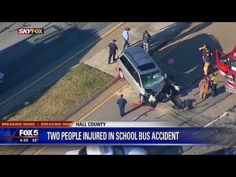 School bus crash in Hall County - YouTube