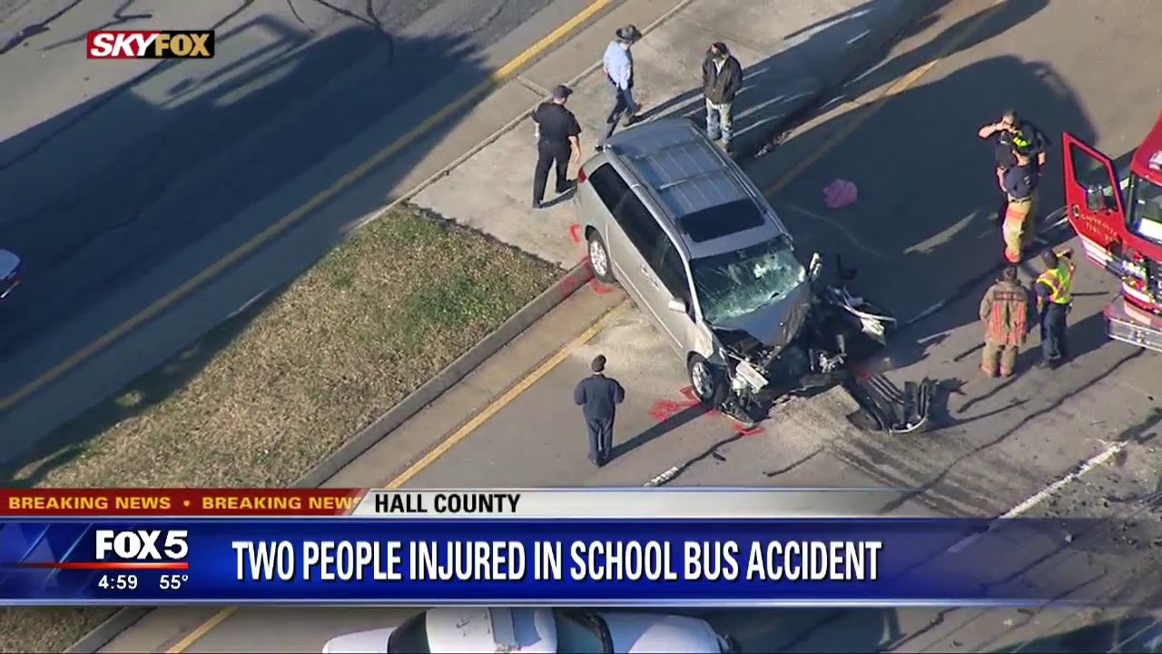 School bus crash in Hall County