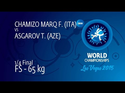 1/4 FS - 65 kg: F. CHAMIZO MARQ (ITA) df. T. ASGAROV (AZE), 10-5