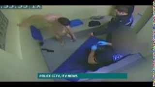 NUDE Man TASERed by police in cell - 50,000 VOLT Weapon!!