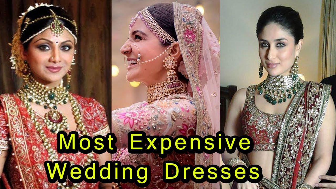 9 Most Expensive Wedding Dresses Of Bollywood Actress | Kareena ...