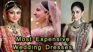 Video 9 Most Expensive Wedding Dresses Of Bollywood Actress | Kareena Kapoor,Anushka Sharma download MP3, 3GP, MP4, WEBM, AVI, FLV Juli 2018