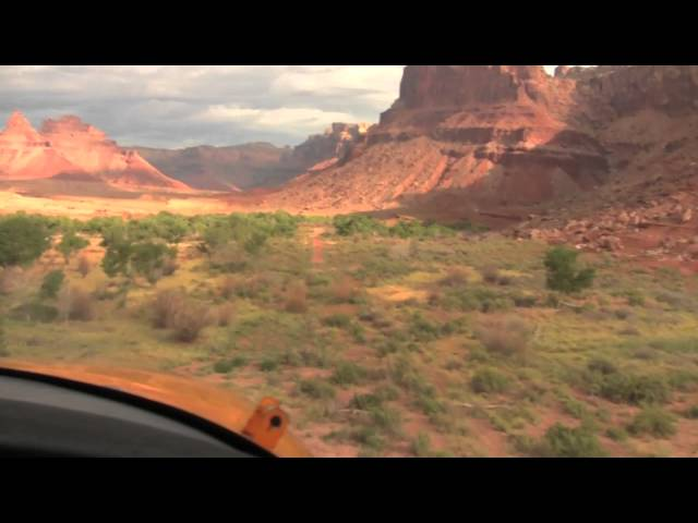 Extreme mountain flying: aircraft landing at the Mexican Mountain airstrip in Utah.