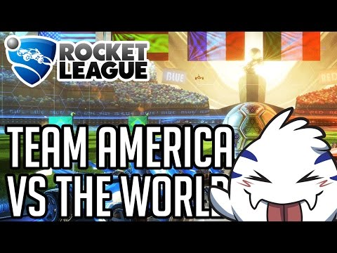 Rocket League Gameplay #5 -TEAM AMERICA VS THE WORLD!! (1080p 60fps PS4 HD)