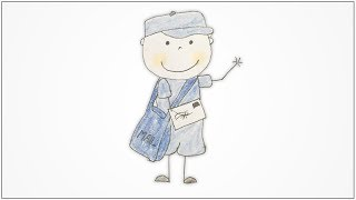 How to draw Community Helpers - Postman for kids