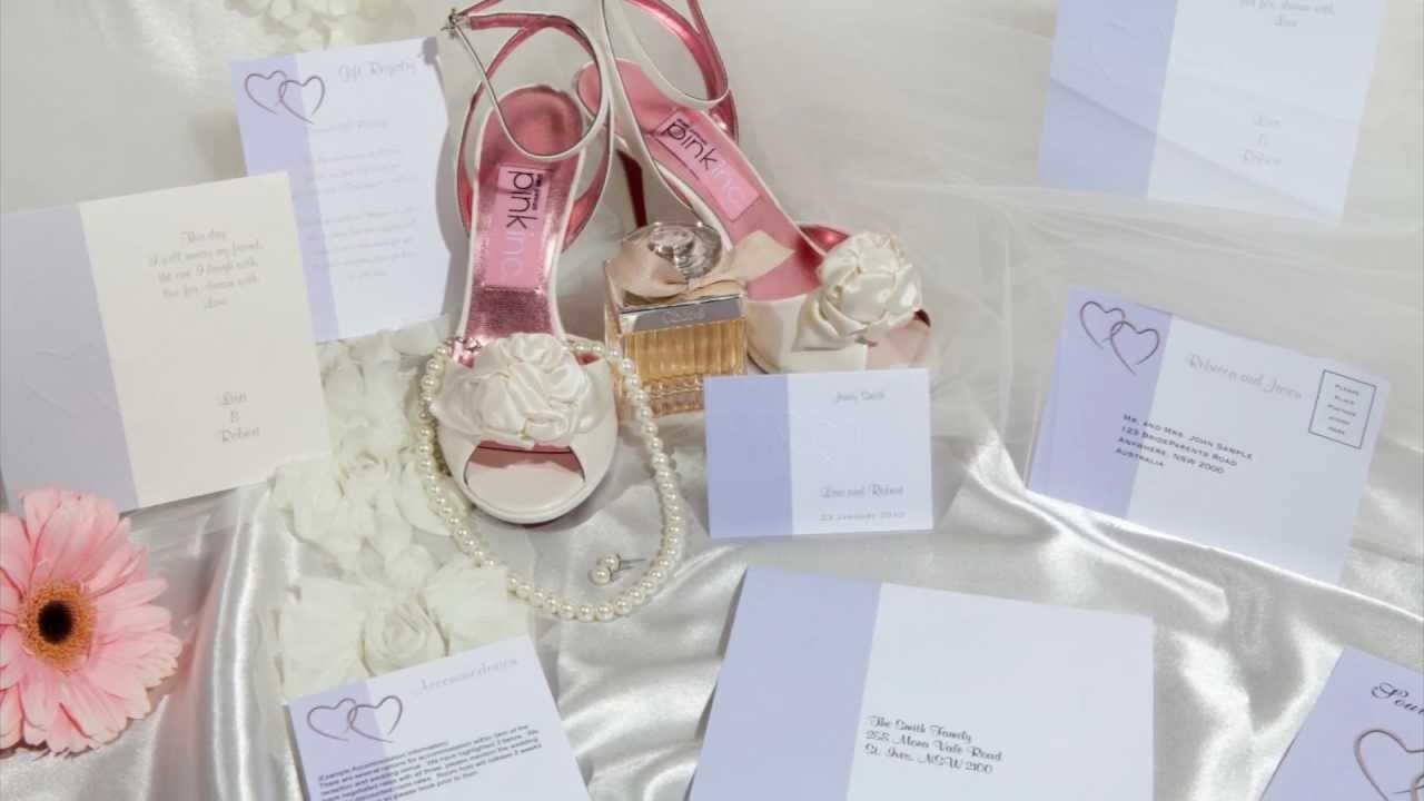 Dreamday Invitations Wedding Invitations Product Range Youtube