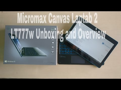 Micromax Canvas Laptab 2 LT777W Unboxing and Overview